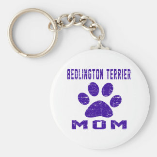 Bedlington Terrier Mom Gifts Designs Key Chain