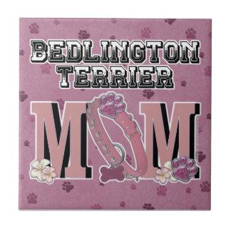 Bedlington Terrier MOM Small Square Tile
