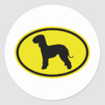 Bedlington Terrier Pegatinas Redondas