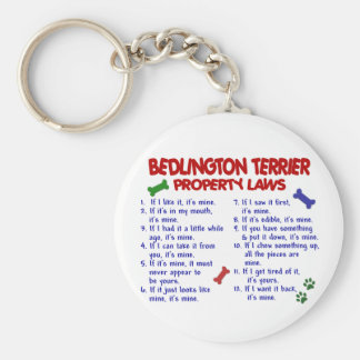 BEDLINGTON TERRIER Property Laws 2 Basic Round Button Keychain