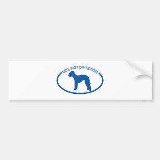 Bedlington Terrier Silhouette Bumper Sticker Car Bumper Sticker