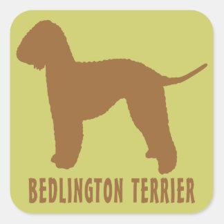 Bedlington Terrier Square Stickers