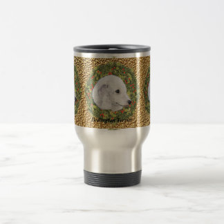 Bedlington Terrier Wreath Travel Mug