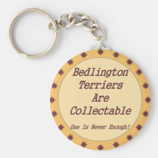 Bedlington Terriers Are Collectable Basic Round Button Keychain