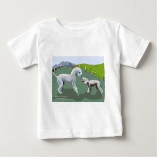 Bedlington Terriers - Meeting your Hero Baby T-Shirt