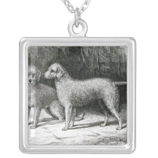 Bedlington Terriers- Mr. F. Armstrong's Square Pendant Necklace