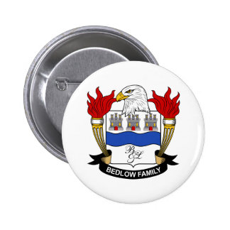 Bedlow Family Crest Button