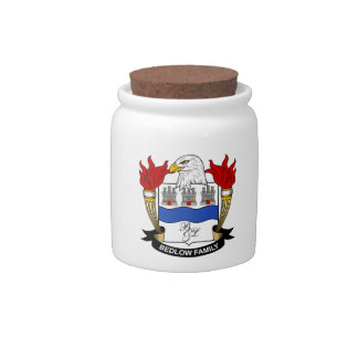 Bedlow Family Crest Candy Jar
