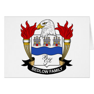 Bedlow Family Crest Card