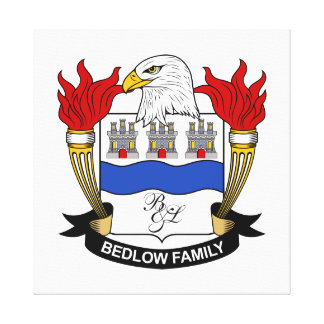 Bedlow Family Crest Gallery Wrapped Canvas