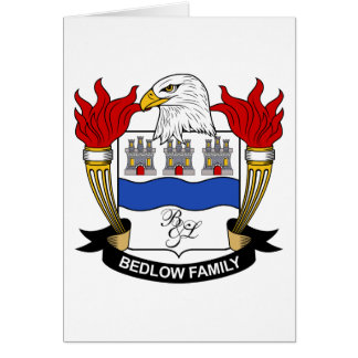 Bedlow Family Crest Greeting Card