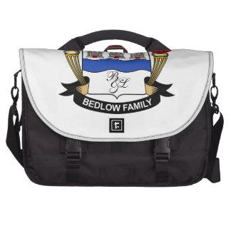 Bedlow Family Crest Laptop Bags
