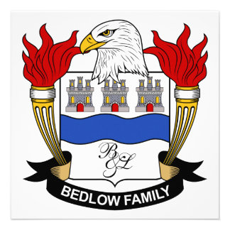 Bedlow Family Crest Personalized Announcements
