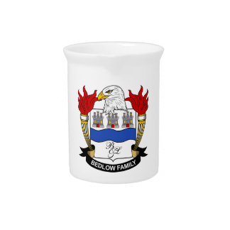 Bedlow Family Crest Pitchers