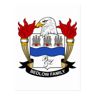 Bedlow Family Crest Post Card