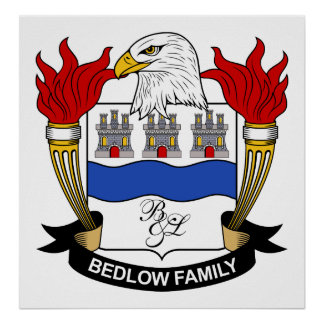 Bedlow Family Crest Posters