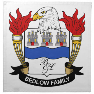 Bedlow Family Crest Printed Napkins