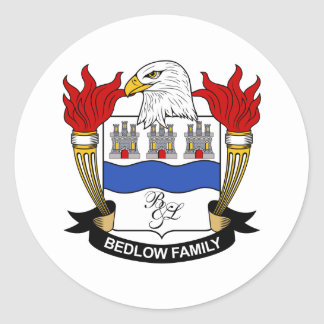 Bedlow Family Crest Sticker