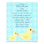 """Bedotted Duck in Blue 4.25"""" X 5.5"""" Invitation Card"""
