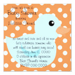 """Bedotted Duck in Blue 5.25"""" Square Invitation Card"""