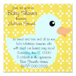 Bedotted Duck in Blue Invitation