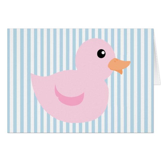 Bedotted Duck in Pink Card