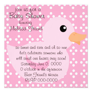 Bedotted Duck in Pink Custom Announcements