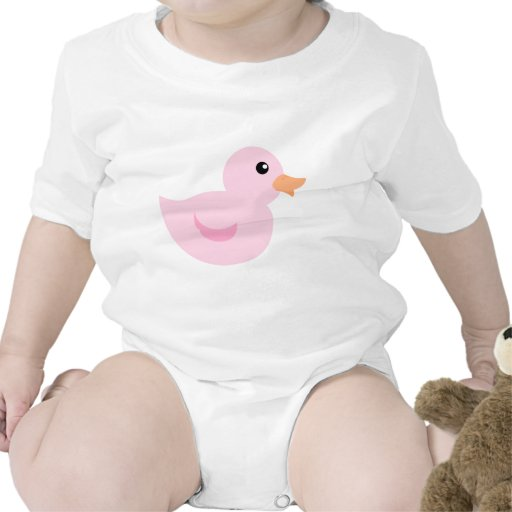 Bedotted Duck in Pink Rompers