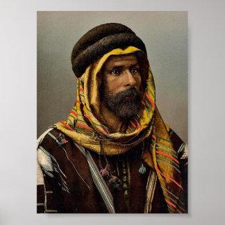 Bedouin Chief of Palmyra, Holy Land (i.e., Tadmur, Poster