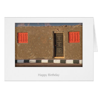 Bedouin House Birthday Card