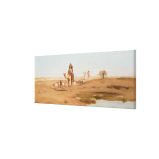 Bedouin in the Desert, 1884 (oil on canvas) Canvas Print
