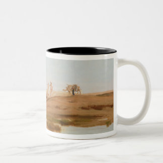 Bedouin in the Desert, 1884 (oil on canvas) Two-Tone Coffee Mug