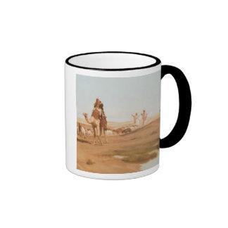 Bedouin in the Desert, 1884 (oil on canvas) Ringer Coffee Mug