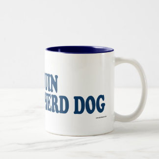 Bedouin Shepherd Dog Blue Two-Tone Coffee Mug