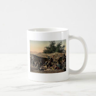 Bedouin tents and occupants, Holy Land rare Photoc Classic White Coffee Mug