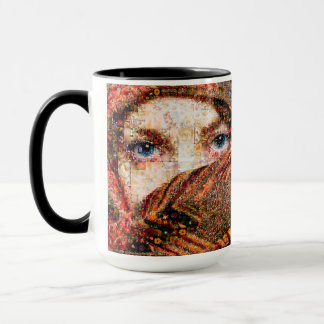Bedouin woman-bedouin girl-eye collage-eyes-girl mug