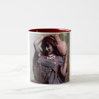 Bedouin Woman Two-Tone Coffee Mug