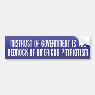 Bedrock of Patriotism Bumper Sticker Bumper Sticker
