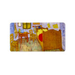 Bedroom at Arles by Vincent Willem van Gogh Personalized Address Labels