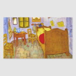 Bedroom at Arles by Vincent Willem van Gogh Rectangular Stickers