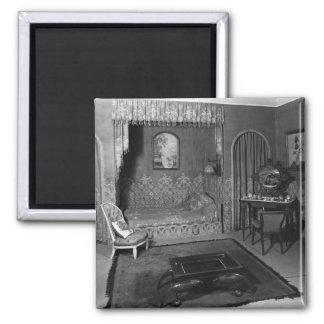 Bedroom belonging to Jeanne Lanvin  c.1920-25 2 Inch Square Magnet
