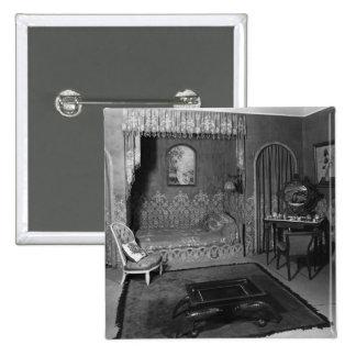 Bedroom belonging to Jeanne Lanvin  c.1920-25 Button