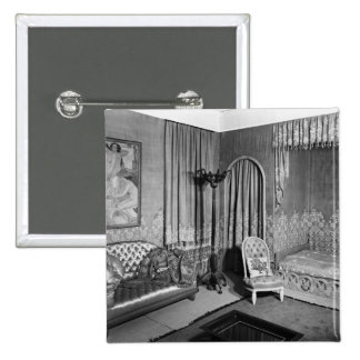 Bedroom belonging to Jeanne Lanvin  c.1920-25 Pinback Button