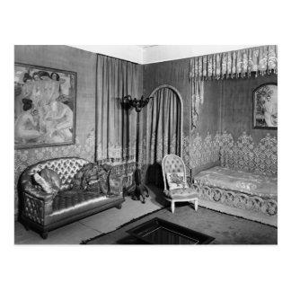 Bedroom belonging to Jeanne Lanvin  c.1920-25 Postcard