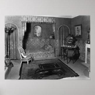 Bedroom belonging to Jeanne Lanvin  c.1920-25 Poster