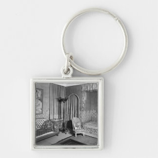 Bedroom belonging to Jeanne Lanvin  c.1920-25 Silver-Colored Square Keychain