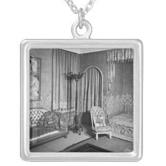 Bedroom belonging to Jeanne Lanvin  c.1920-25 Square Pendant Necklace