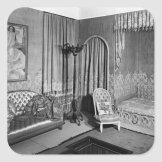 Bedroom belonging to Jeanne Lanvin  c.1920-25 Square Sticker