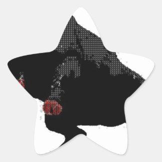bedroom bully (dots) star sticker