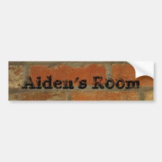 bedroom door name sticker